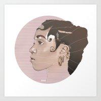 fka twigs Art Prints featuring FKA Twigs by Mateusz Kampa