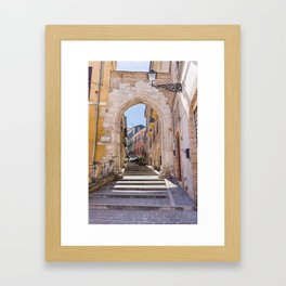 Porta Pescara, Old Arch Framed Art Print