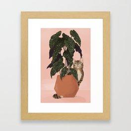 tiger at heart Framed Art Print