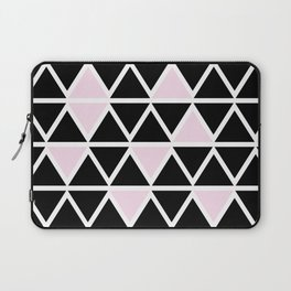 Abstract geometric triangle pattern- pink-black Laptop Sleeve