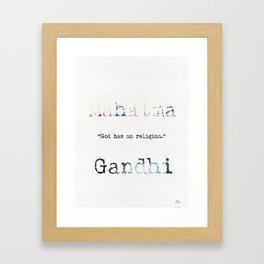 Mahatma Gandhi quote 2 Framed Art Print