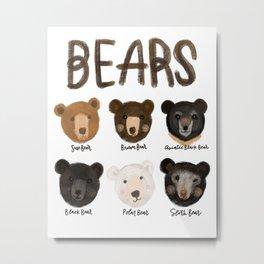 Bunch of Bears Metal Print