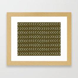 Arrows on Bronze-Olive Framed Art Print