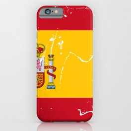 Spain flag with grunge effect iPhone Case