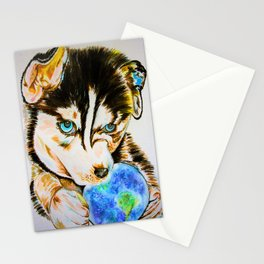 Arien - The Dreaming Husky Stationery Cards