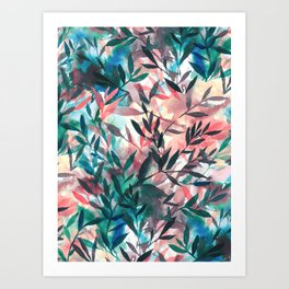 Changes Coral Art Print
