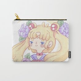 Sailor Moon & Peonies Carry-All Pouch