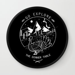 Go Explore The Dinner Wall Clock