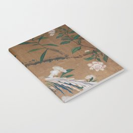 Antique French Chinoiserie in Tan & White Notebook