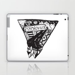 Psychoville black ink drawing Laptop & iPad Skin