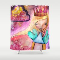 fairy Shower Curtains featuring Fairy by SannArt
