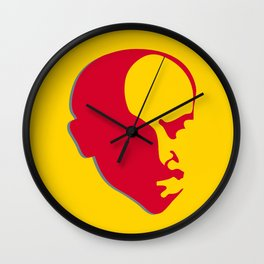 Vladimir Ilich Lenin stencil silhuette portrait Wall Clock