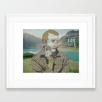 bon iver Framed Art Prints featuring Bon Iver. by Lucas Eme A