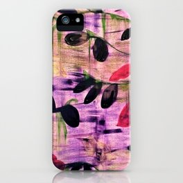 Purple Garden. Purple, Vines, Garden, Flowers, Green, Abstract, Jodilynpaintings iPhone Case