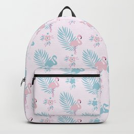 Pretty Pastel Flamingo Chevron Pattern #decor Backpack
