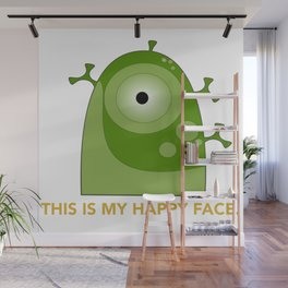 This is my happy face. Wall Mural