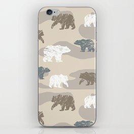 Bearish camouflage iPhone Skin