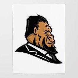 Well-Groomed Gorilla Mascot Poster