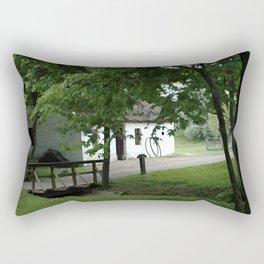 Farmhouse and Footbridge Rectangular Pillow