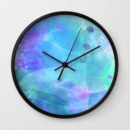 Purple Enchanted Sea Watercolor Mermaid Tail Wall Clock