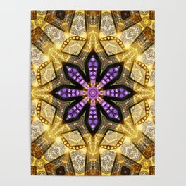 Purple Star Rustica Poster