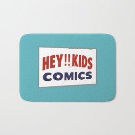 Hey Kids! Vintage Comic Spinner Rack Sign Bath Mat