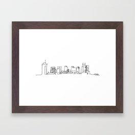 Nashville Skyline Drawing Framed Art Print
