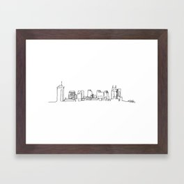 Nashville Skyline Drawing Framed Art Print