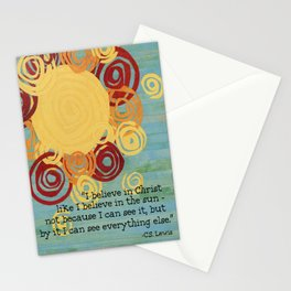 I Believe In Christ  Stationery Cards