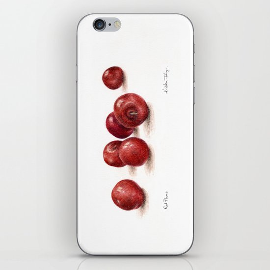 Red Plums iPhone & iPod Skin