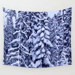 Snow Trees  Wall Tapestry