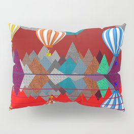 Hot Air Balloon Reflections Over Red Sea Pillow Sham