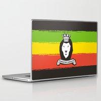 rasta Laptop & iPad Skins featuring Rasta Lion by Awesome