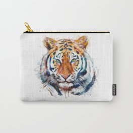 Tiger Head watercolor Carry-All Pouch