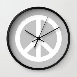 Peace (White & Gray) Wall Clock