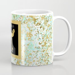 Figure Skating I Would Rather Be Skating- Mint and Gold Splatter Paint Design Coffee Mug