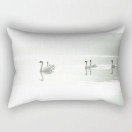 Swans Rectangular Pillow