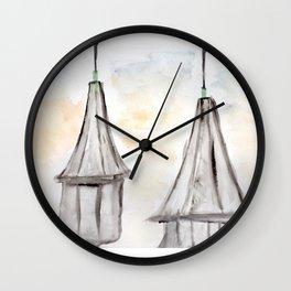 Twin Spires Churchill Downs Watercolor Art Louisville, Kentucky Wall Clock