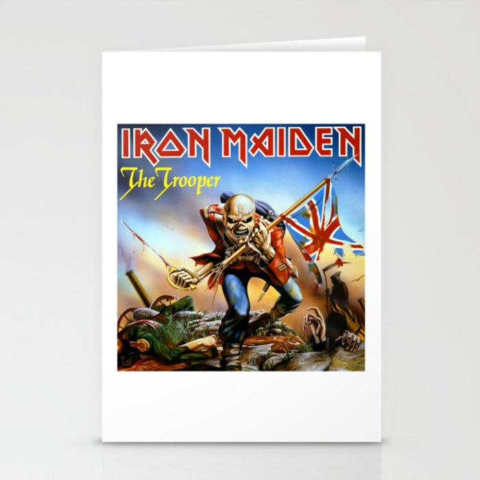 Iron Maiden The Trooper Stationery Cards By Ariesan Society6