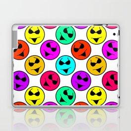 Smiley Bikini Bright Neon Smiles on White Laptop & iPad Skin