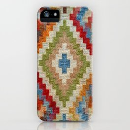 kilim rug pattern iPhone Case