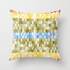 Hexagon pattern Throw Pillow