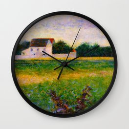Landscape of the Ile de France Post-Impressionism landscape Oil Painting Countryside Cottages Farm Wall Clock