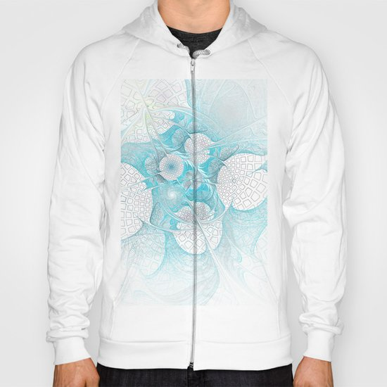 Turquoise Fractal Hoody