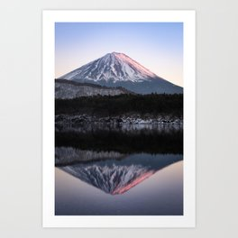Mount Fuji in Rose Art Print