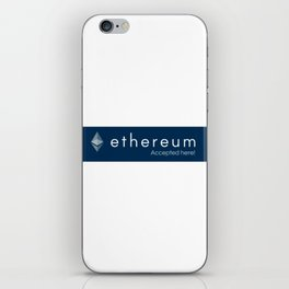 Accepted here: Ethereum iPhone Skin