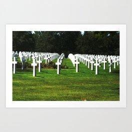 Normandy Cemetery Art Print