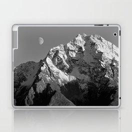 Moon Over Pioneer Peak B&W Laptop & iPad Skin