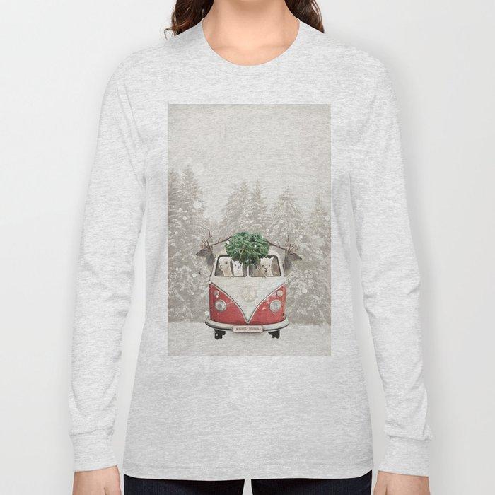 ALPACA ALPACA ALPACA - NEVER STOP EXPLORING - X-MAS Long Sleeve T-shirt