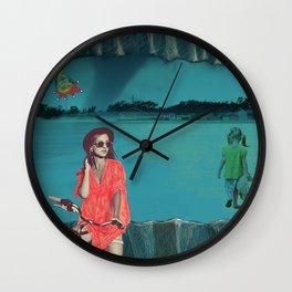 Tornado girl Wall Clock